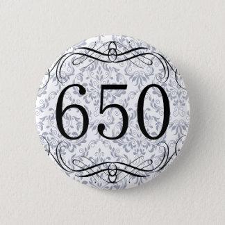 650 Area Code 6 Cm Round Badge