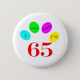 65 Balloons 6 Cm Round Badge