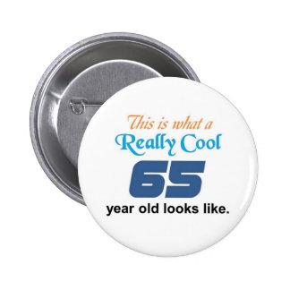 65 Birthday 6 Cm Round Badge