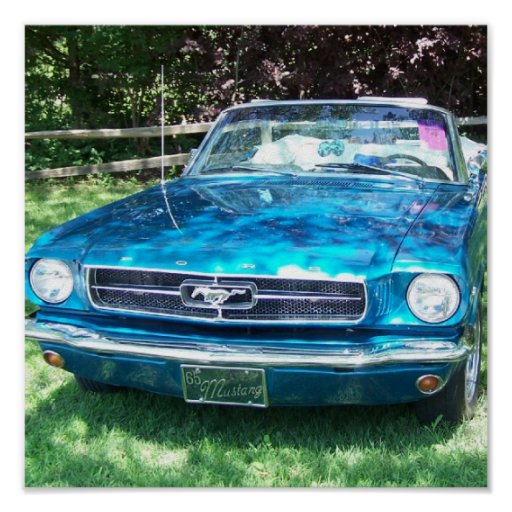 65 Mustang Poster