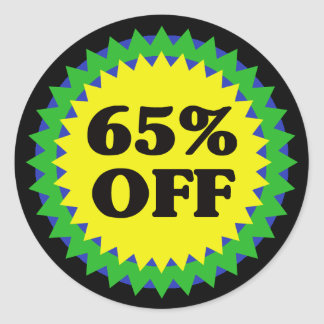 65% OFF RETAIL SALE Sticker