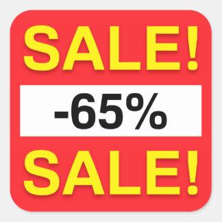 65 percent sale discount stickers