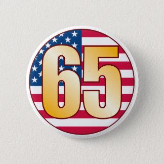 65 USA Gold 6 Cm Round Badge