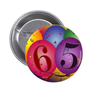 65 years!  Birthday balloon button