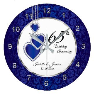 65th / 45th Sapphire Blue Anniversary Keepsake Large Clock