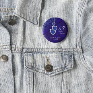 65th / 45th Wedding Anniversary Design 2 6 Cm Round Badge