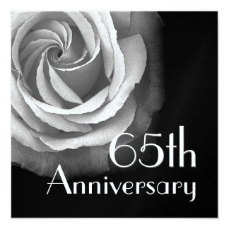 65th Anniversary Invitation - WHITE Rose