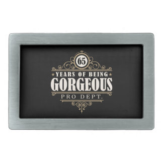 65th Birthday (65 Years Of Being Gorgeous) Belt Buckles