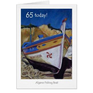 65th Birthday Card - Algarve Fishing Boat