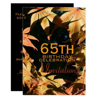 65th Birthday Celebration Autumn Custom Invitation