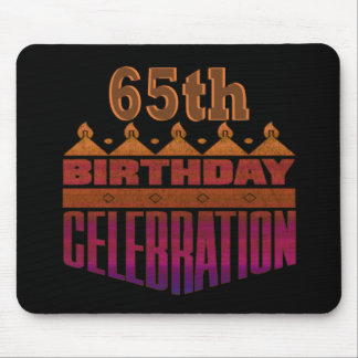 65th Birthday Celebration Gifts Mouse Pad