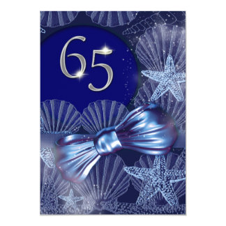 65th birthday celebration party major CUSTOMIZE Card