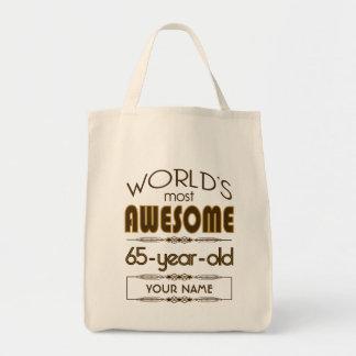 65th Birthday Celebration World Best Fabulous Tote Bag