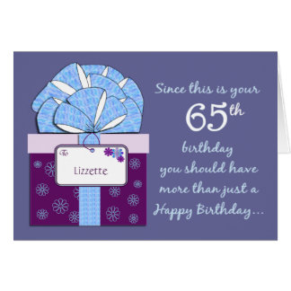 65th Birthday Customizable Card