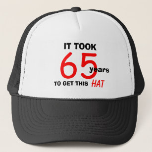 65th Birthday Gag Gifts Hat For Men