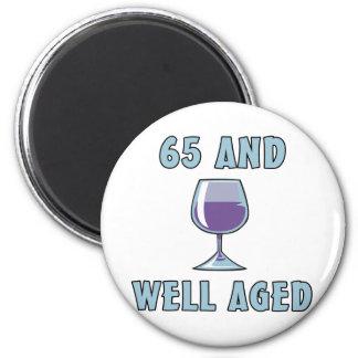 65th Birthday Gifts Fridge Magnets
