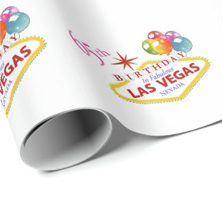 65th Birthday in Las Vegas Wrapping paper
