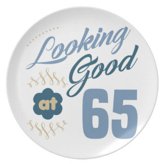 65th Birthday Looking Good Plate