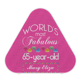 65th Birthday Most Fabulous Colorful Gems Pink