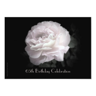 65th Birthday Party Celebration Pale Pink Rose Card