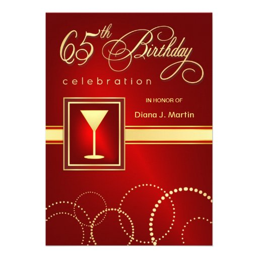 65Th Birthday Party Invitations is beautiful invitation design