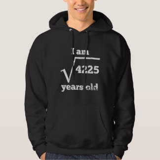 65th Birthday Square Root Hoodie