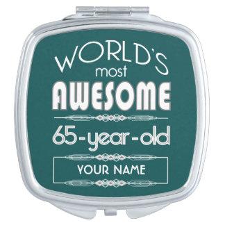 65th Birthday Worlds Best Fabulous Dark Green Mirrors For Makeup