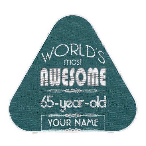 65th Birthday Worlds Best Fabulous Dark Green Bluetooth Speaker