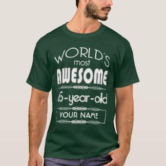 65th Birthday Worlds Best Fabulous Dark Green T-Shirt