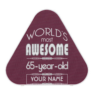 65th Birthday Worlds Best Fabulous Dark Red Maroon