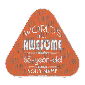 65th Birthday Worlds Best Fabulous Flame Orange
