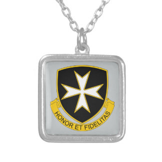 65th Infantry Regiment Silver Plated Necklace