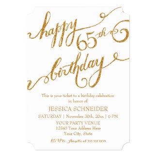 65th, Sixtyfifth Birthday Party Ticket Celebration 13 Cm X 18 Cm Invitation Card