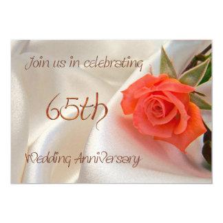 65th wedding anniverary party invitation