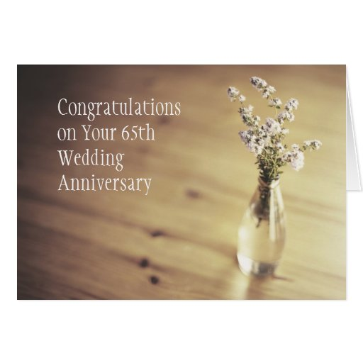 Gifts For 65th Wedding Anniversary: 65th Wedding Anniversary Card
