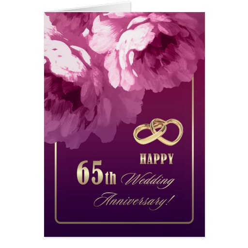 65th Wedding Anniversary Greeting Cards Card