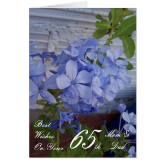 65th Wedding Anniversary Mum & Dad Plumbago Card