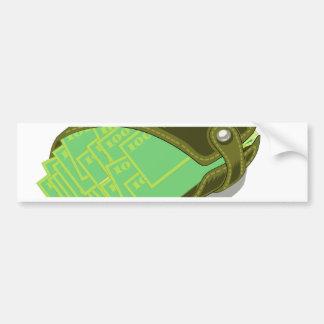 65Wallet_rasterized Bumper Sticker