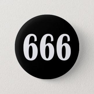 666 6 CM ROUND BADGE