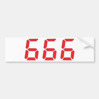 666 alarm clock numbers bumper sticker