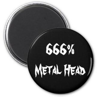 666%Metal Head Refrigerator Magnet