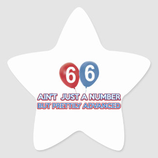 66 aint just a number star stickers