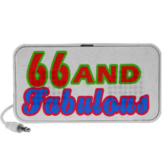 66 and Fabulous Birthday Designs Speaker System