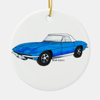 66 Corvette Roadster Ceramic Ornament