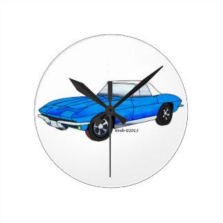 66 Corvette Roadster Wallclocks