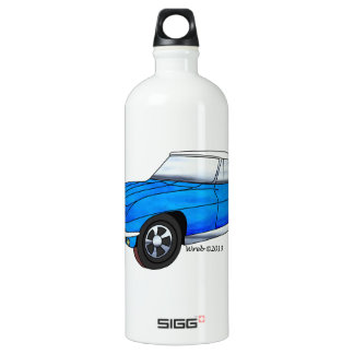 66 Corvette Roadster Water Bottle