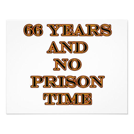 66 No prison time Personalized Announcement