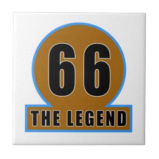 66 The Legend Birthday Designs Ceramic Tile