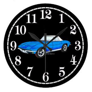66 Vette - White Dial Large Clock