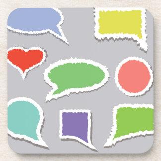 66Speech Bubbles_rasterized Coaster